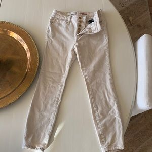 Pilcro Anthropologie High Rise Skinny Ivory Cords